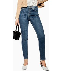 mid blue orson skinny jeans - mid stone