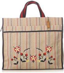 bolsa sacola de feira bordada