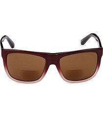 the nolita 55mm square reading sunglasses