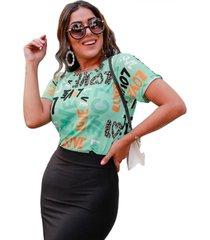 camiseta babylook copacabana love verde
