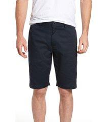 men's volcom 'modern' stretch chino shorts, size 44 - blue