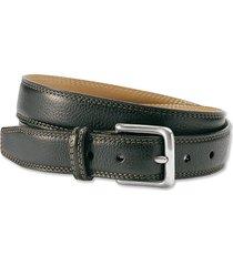 italian grain strap belt, black, 38