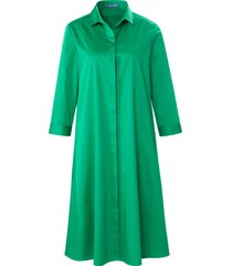 jurk 3/4-mouwen en overhemdkraag van day.like groen