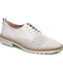 incise tailored snörade skor låga vit ecco