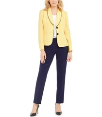 le suit two-button slim fit pantsuit