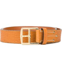 gianfranco ferré pre-owned 2000s classic leather belt - orange