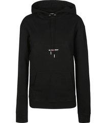 saint laurent mid logo hoodie