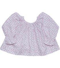 blusa alas beige rosa maría pompón