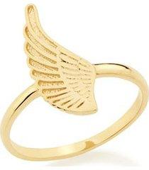 anel rommanel skinny ring asa com detalhe em alto relevo feminino
