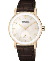 reloj classic quartz dorado citizen