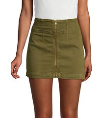 virgo zip-front mini skirt