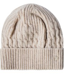 women's helen kaminiski hannah cable knit beanie - ivory
