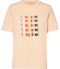 boxy fit short sleeve tee with graphic t-shirts & tops short-sleeved creme scotch & soda