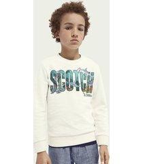scotch & soda ocean-graphic sweatshirt