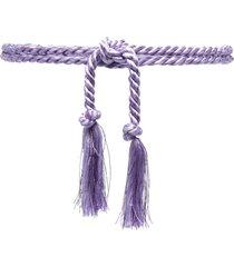 forte forte braided tie belt - purple