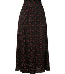 marine serre logo jacquard skirt - black
