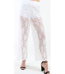 pantalon de encaje blanco night concept