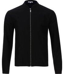 chaqueta hombre tipo pana color negro, talla s