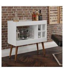 aparador bar com adega coffee break - branco - rpm móveis