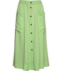 karole knälång kjol grön mbym