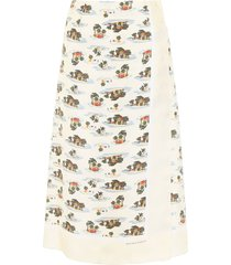 bottega veneta postcard print skirt