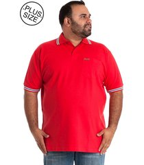 camisa polo konciny plus size pink