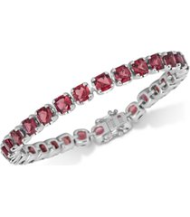 garnet bracelet (18 ct. t.w.) in sterling silver