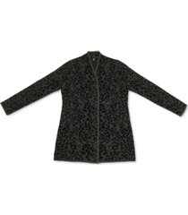jm collection plus size animal print cardigan sweater, created for macys