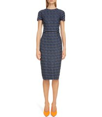 women's victoria beckham houndstooth jacquard sheath dress