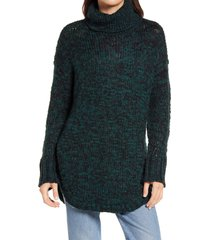 women's treasure & bond turtleneck sweater, size x-small - green