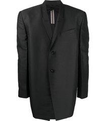 rick owens exaggerated-shoulder strap blazer - black