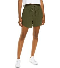 free people fp movement can't handle this rib shorts, size small in mayfly at nordstrom