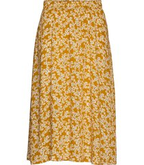 nubijou skirt knälång kjol gul nümph