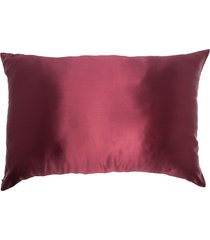 slip embroidered logo silk pillowcase