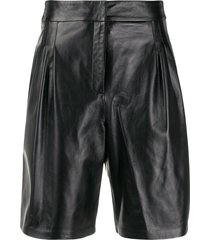16arlington high-waisted shorts - black