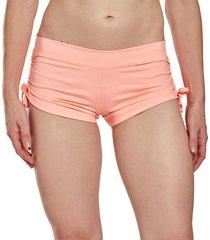 mika yoga wear women's lucia hot shorts - desert rose medium/large polyester/lycra
