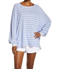 free people fp movement she's everything stripe shirt, size small in brushed lavender com at nordstrom
