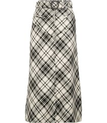 check print matango skirt