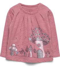 hush ls t-shirt-oekotex t-shirts long-sleeved t-shirts rosa fixoni