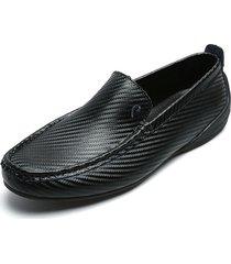 zapato casual mocasin negro pierre cardin pc2360