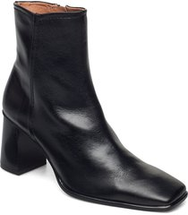 stb-agata l shoes boots ankle boots ankle boot - heel svart shoe the bear