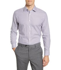 men's the tie bar trim fit tattersall twill dress shirt