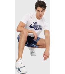 camiseta blanco-azul nike