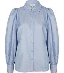 blouse met ballonmouwen mauri  blauw