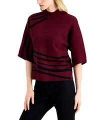 alfani kimono-print sweater, created for macy's