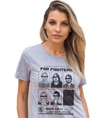 camiseta basica my t-shirt foo fighters mescla