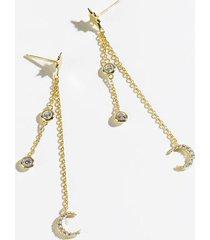 adriana celestial linear earrings - gold