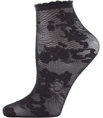 natori scarlet lace sheer shortie socks, women's natori