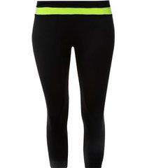 legging deportivo con pretina en contraste color verde, talla xs