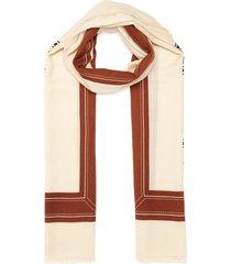 logo graphic lightweight cashmere scarf